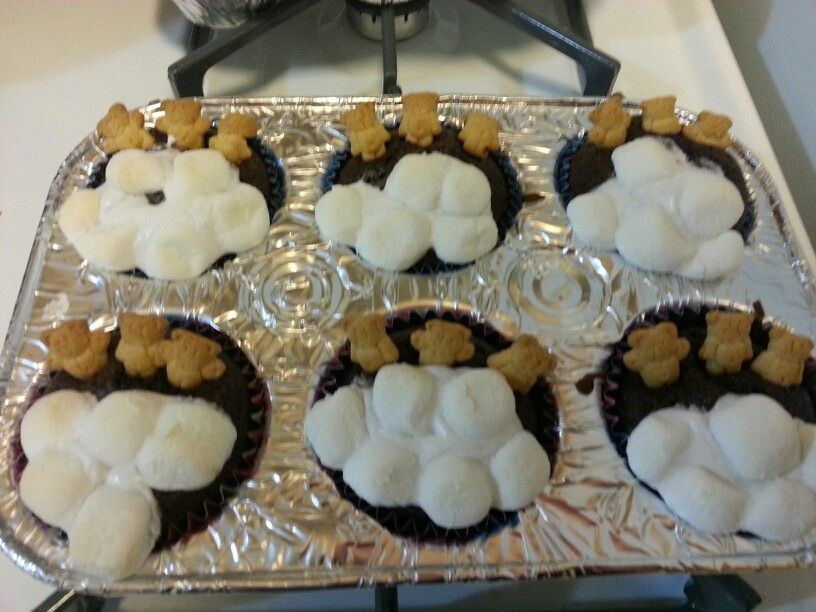 my sister did her  own bears in a tub some have caramel some have white chocolate chip. DELICIOUS!!!!!