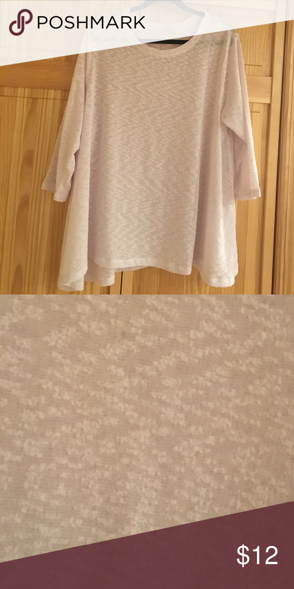 NWOT white shirt Perfect quality never worn 3/4 sleeve white shirt Tops Tees - Long Sleeve