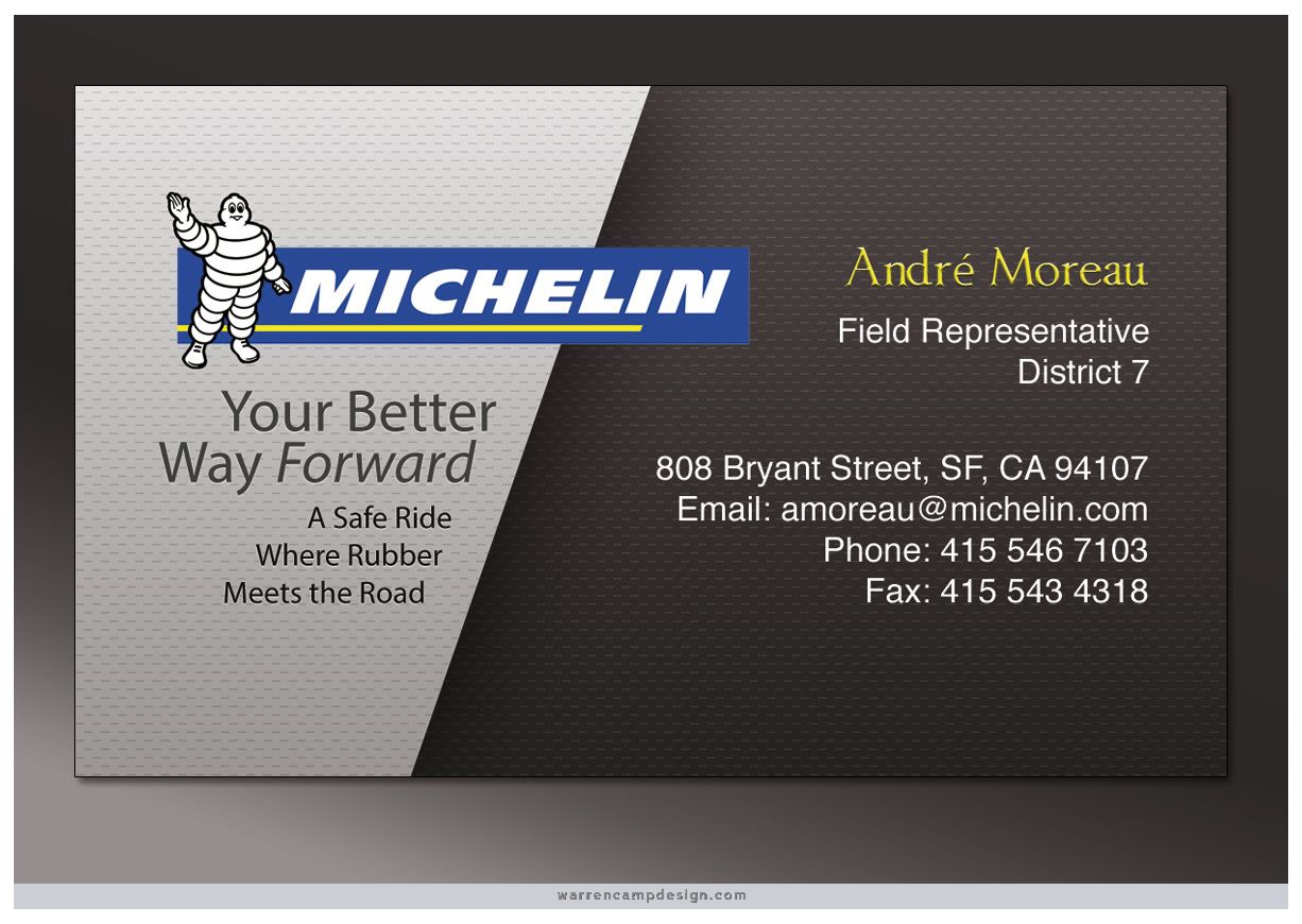 Tire Sales This Singlesided Business Card Features Two - Single business card template