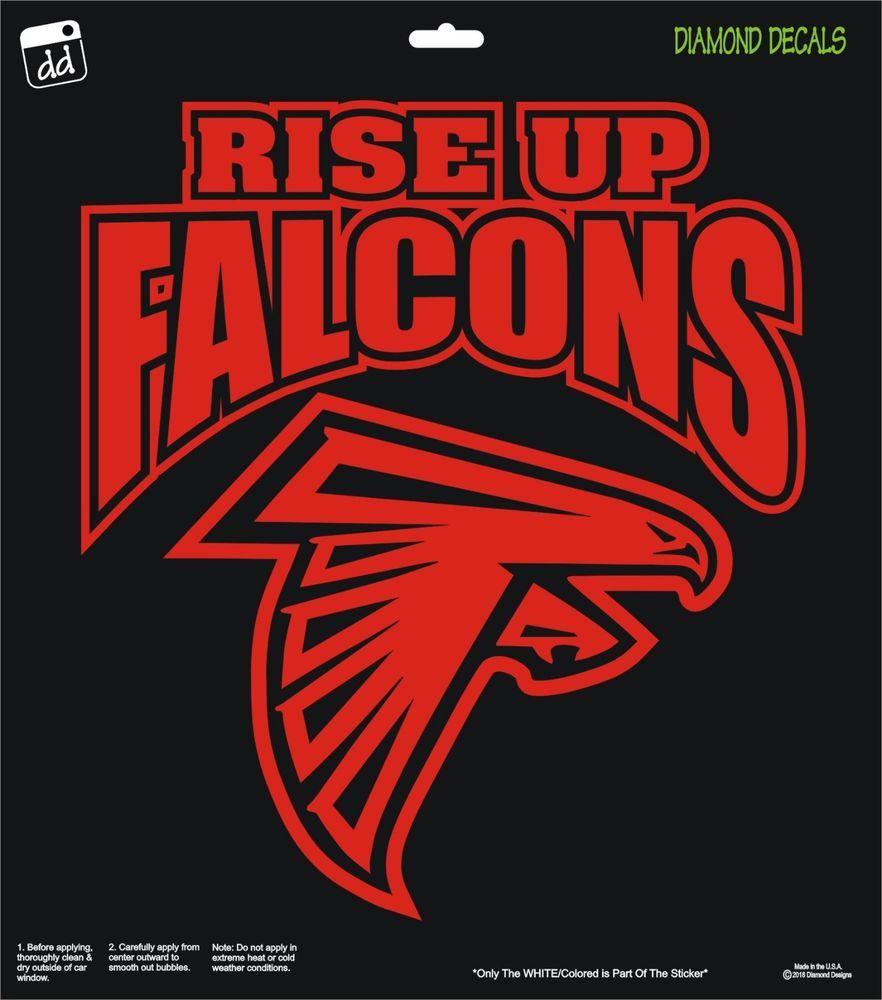 Atlanta Falcons Nfl Football Rise Up Vinyl Decal Truck Car Window Sticker Diamonddecalz Atlanta Falcons Atlanta Falcons Wallpaper Football Decal
