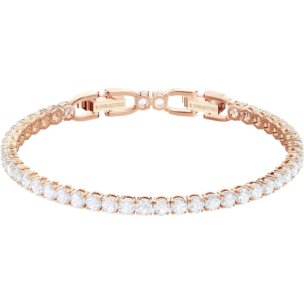 Tennis Deluxe Bracelet Gray Ruthenium Plated By Swarovski Diamond Bracelet Design Swarovski Bracelet Gold Bracelet