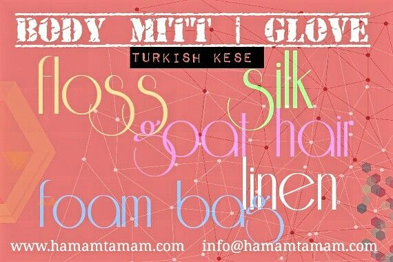 Body mitt - glove as known Turkish kese different types. Natural and traditional. For more detail visit 👇  http://hamamtamam.com/category/hamam-spa-products/kese-mitt #natural #flossmitt #silkmitt #turkishkese #goathairmitt #bodygloves #bodymitt #foambag #hammam #bath #shower #bodycare #turkishbath #bathaccessories #linenmitt