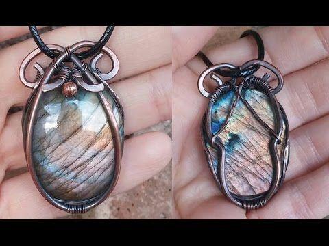 Wire wrapped cabochon minimalistic pendant tutorial wire jewelry wire wrapped cabochon minimalistic pendant tutorial mozeypictures Choice Image
