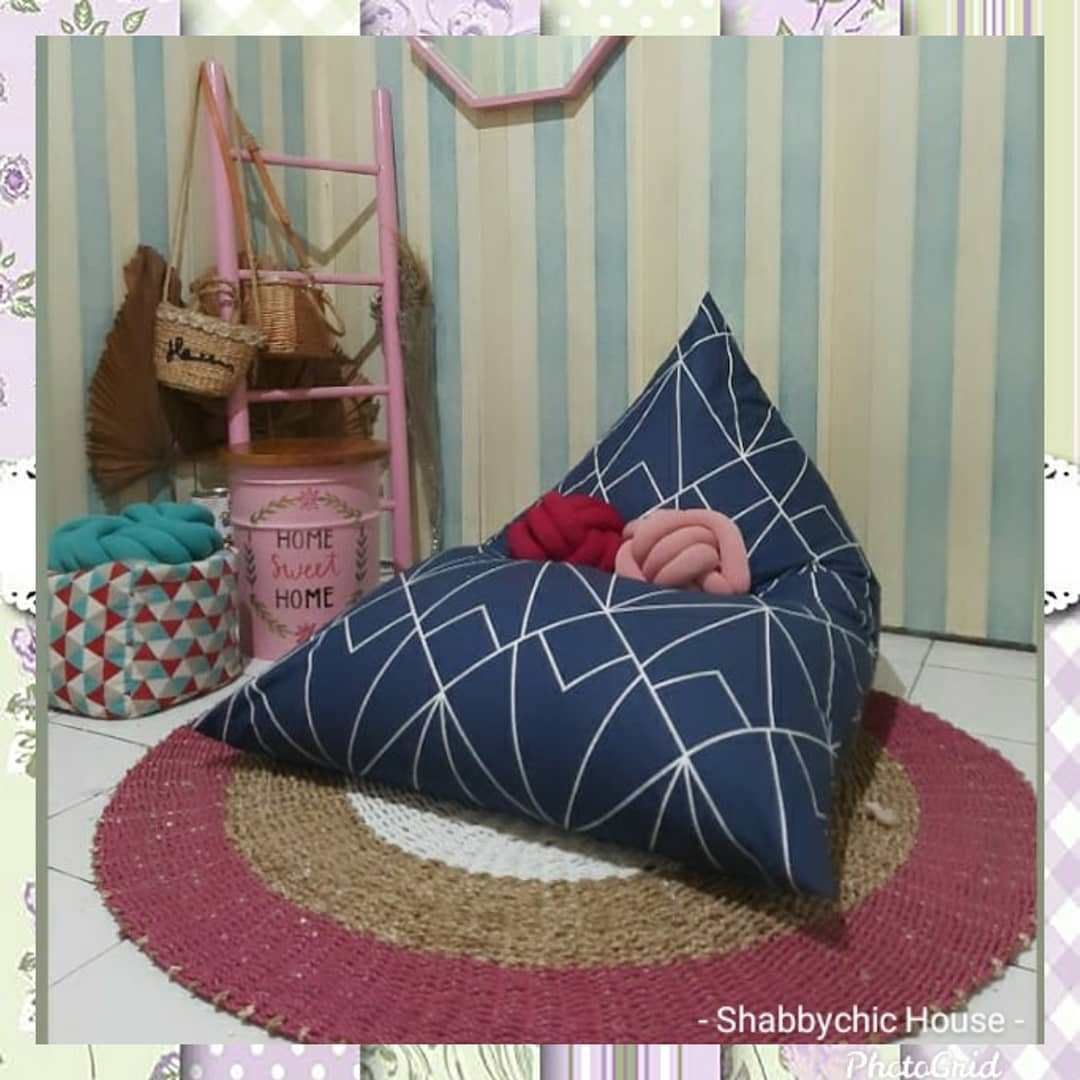 . READY ... Bean Bag Triangle Uk. L. Material: Cotton Can reques - #homedecor