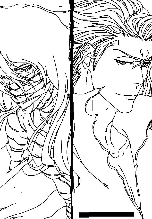 Ichigo Vs Aizen Lineart By Silvercore94 On Deviantart Bleach Drawing Manga Coloring Book Bleach Manga