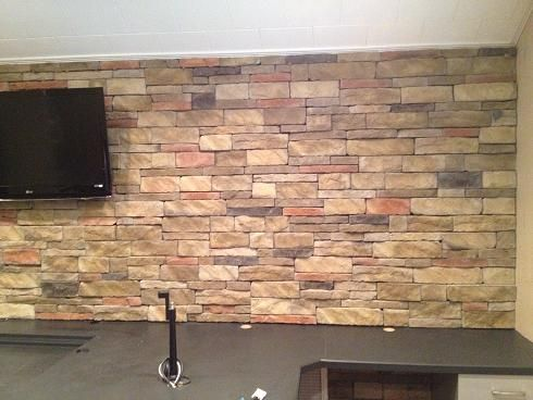 Love A Stone Interior Accent Wall Get The Look With Our