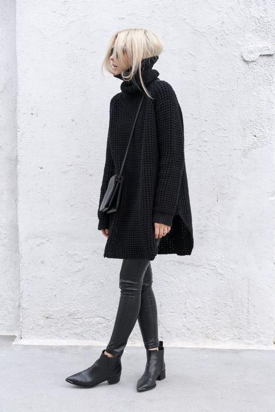 15 Bequeme Looks mit übergroßen Pullovern für den Winter #modafemenina