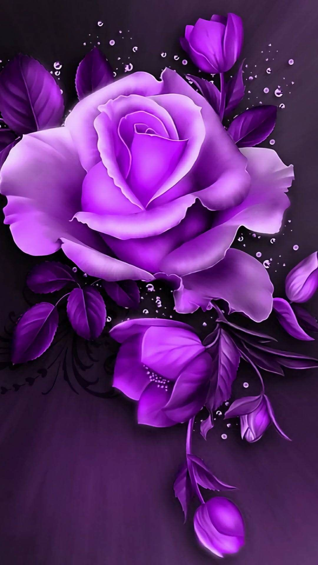 Purple Roses Background Images: Pin By April Reiber On Purple