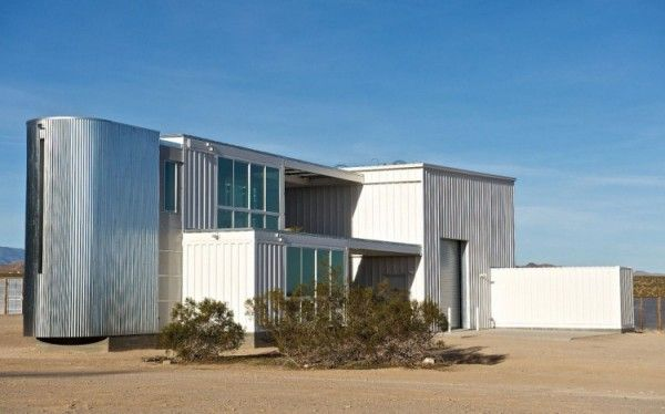 Desert Home Made From 6 Shipping Containers in Joshua Tree, California