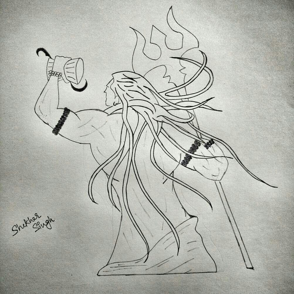 Pencil Sketch Mahadev