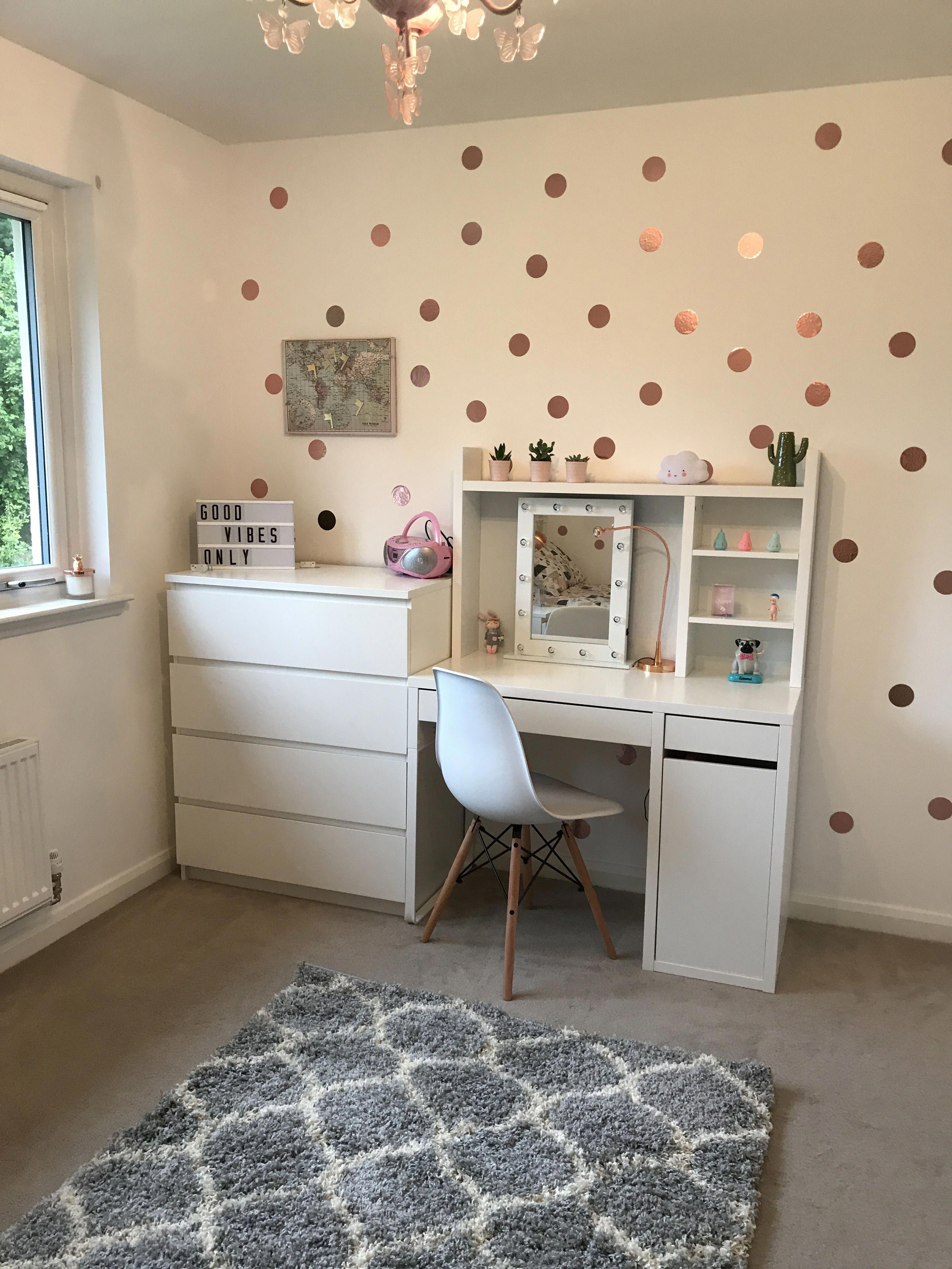 Study Room Color Ideas: Freya's Room #teenagegirlbedroomdesignsdesks