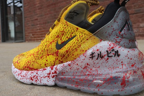 promo code 04f5a 1faef Kill Bill Air Max 270 off white bruce lee black mamba VAB custom ONLY 10  AVAILABLE