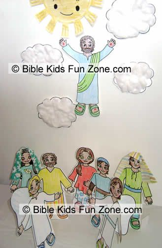 Crafts For Children About The Ascension Of Jesus Into border=