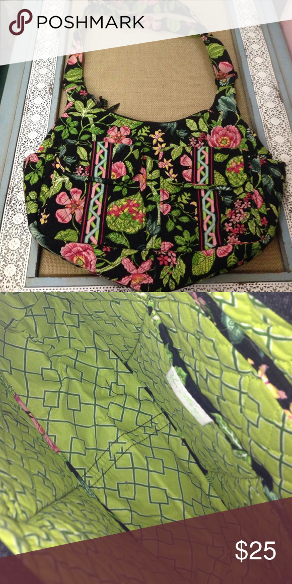 Vera Bradley tote Vera Bradley greenery tote.  Can be used as baby bag. Great condition Vera Bradley Bags Totes