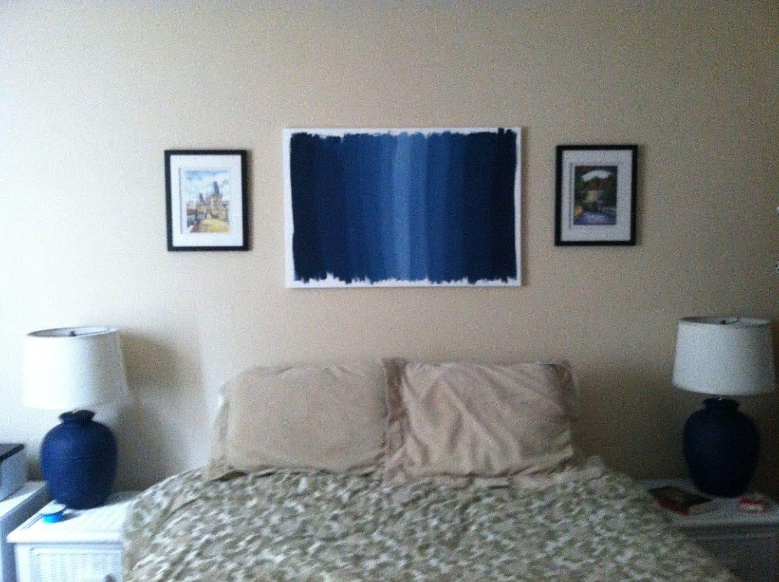 Navy Blue Bedroom Art