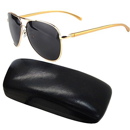 LEIDISEN Men Classic Maverick Polarized Magnesium Aluminum Frame Aviator Sunglasses UV400