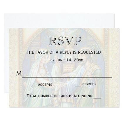 Wedding RSVP Catholic Christian Marriage Card