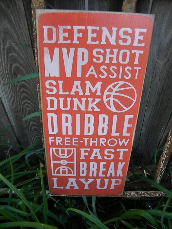 Basketball Typography Sign subway sign 9x20 by Wildoaks on Etsy, $30.00
