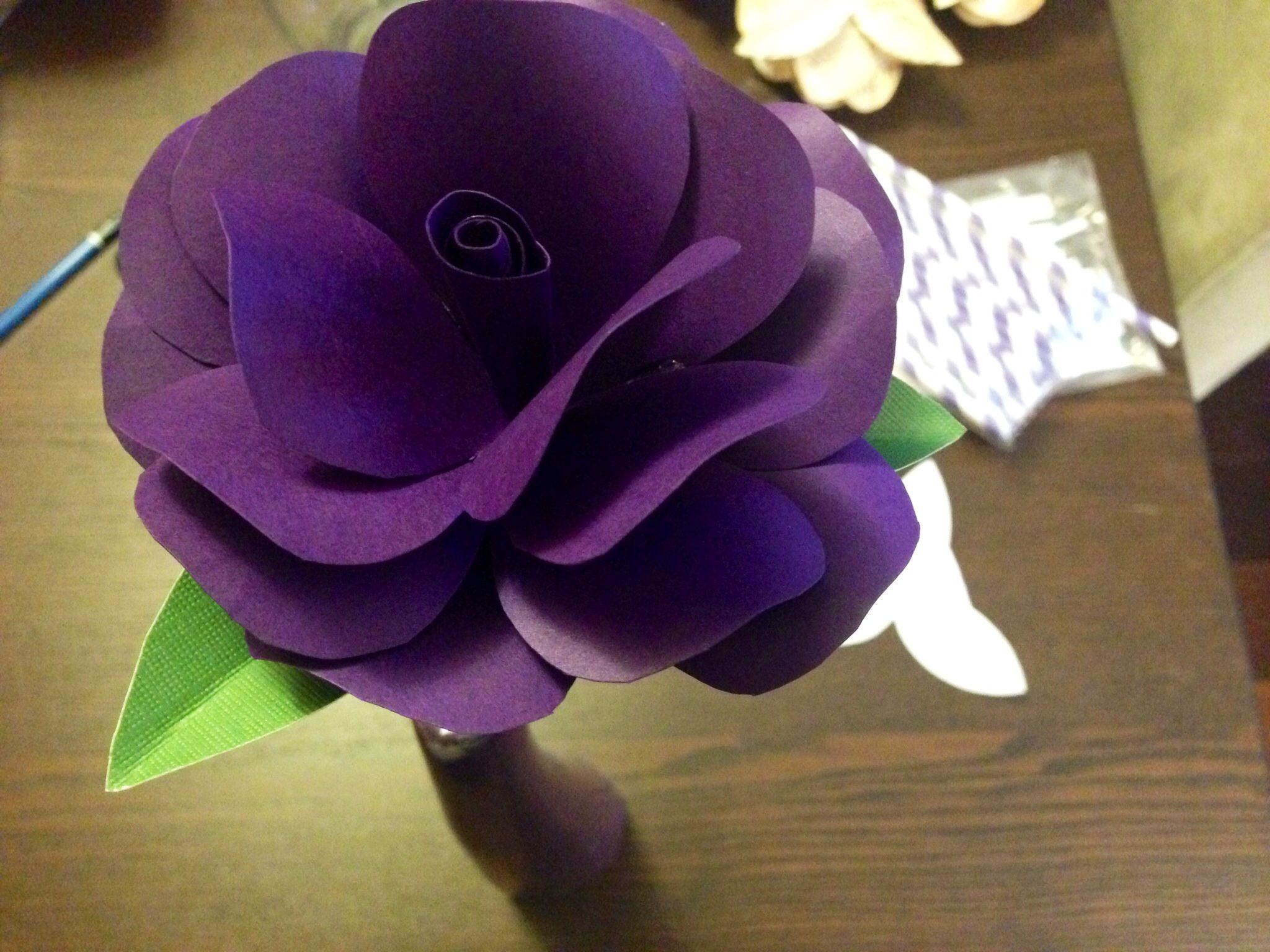 Diy paper flower wedding decorations  Purple paper flower diy wedding decor  Crafty Ideas  Pinterest