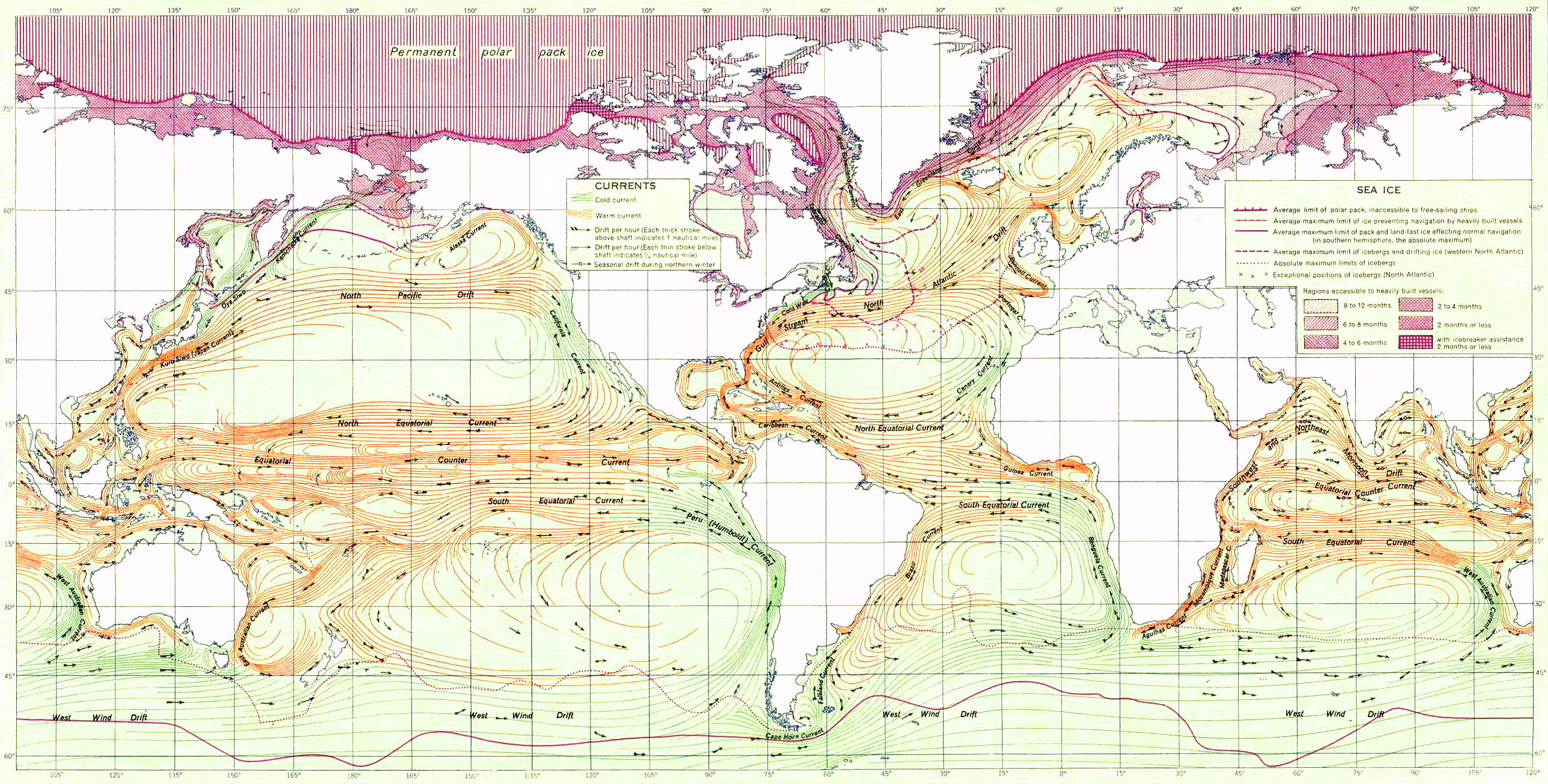 Ocean Currents Ocean Current - Us map and oceans