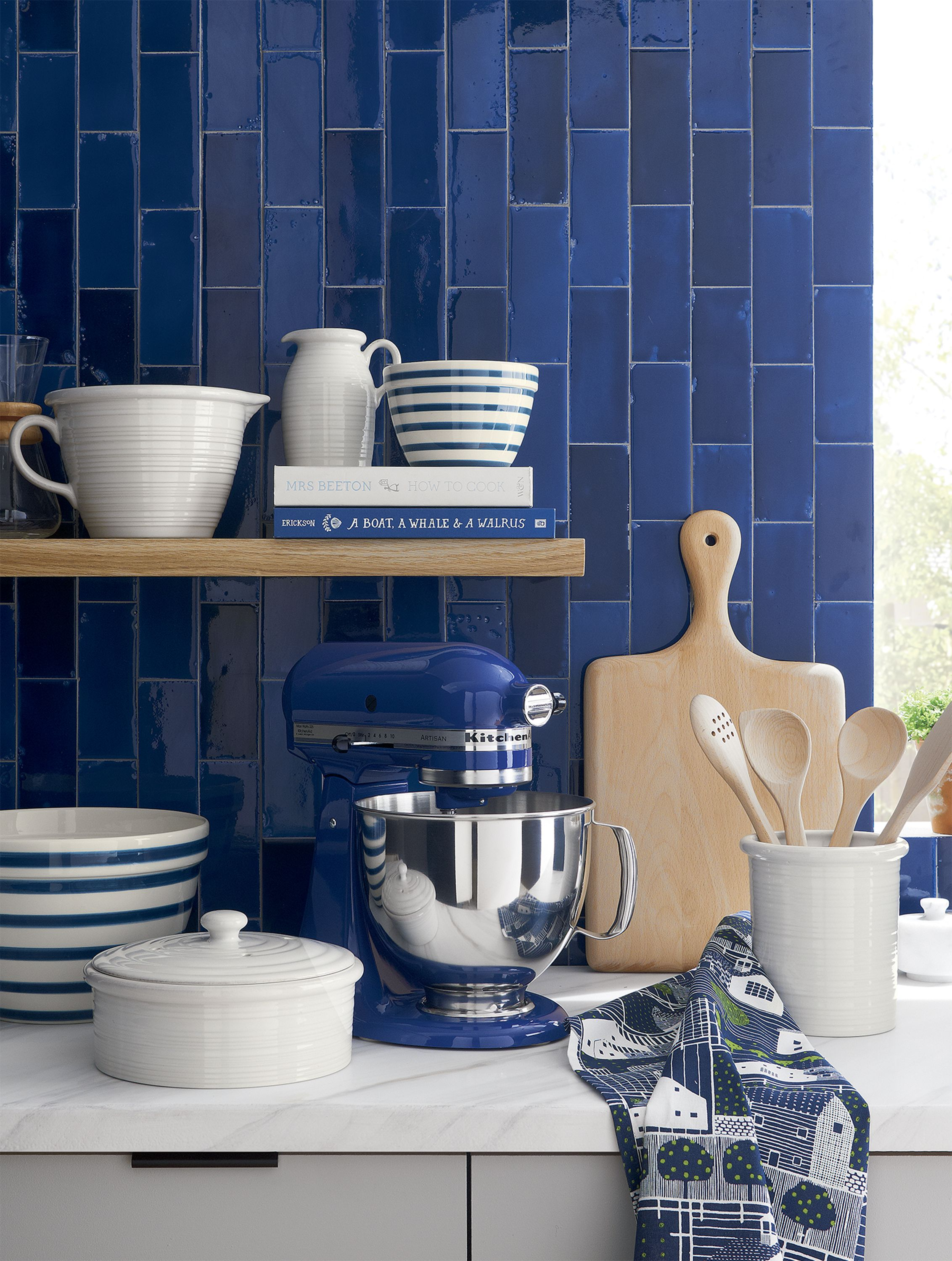 Merveilleux This Heavy Duty Mixer In Cool Blue Willow HasKitchenAid Power And A  Planetary Mixing Action That Spirals The Beater To 67 Touch Points Within  The Bowl For ...