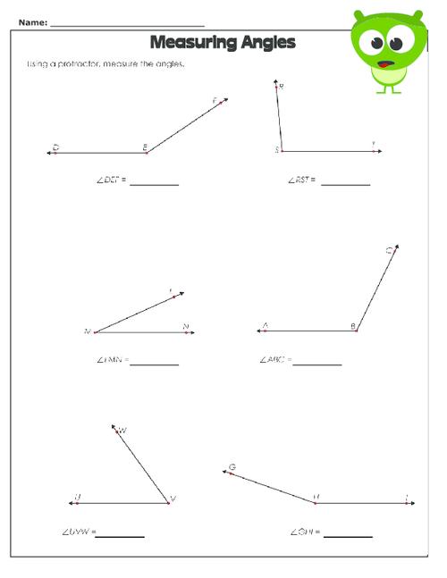 Measuring Angles Worksheet Kidspressmagazine Com Measuring Angles Worksheet Angles Worksheet Triangle Worksheet