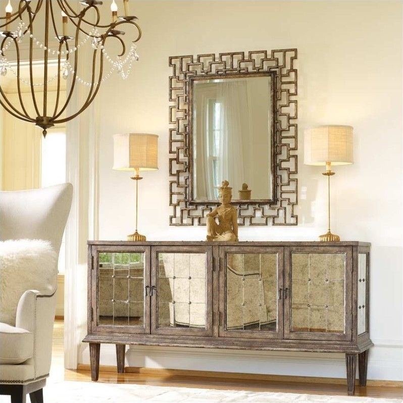 Hooker Furniture Melange DeVera Mirrored Console Table