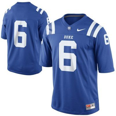 newest 04157 f16fd Nike Duke Blue Devils #6 Game Football Jersey - Royal Blue ...