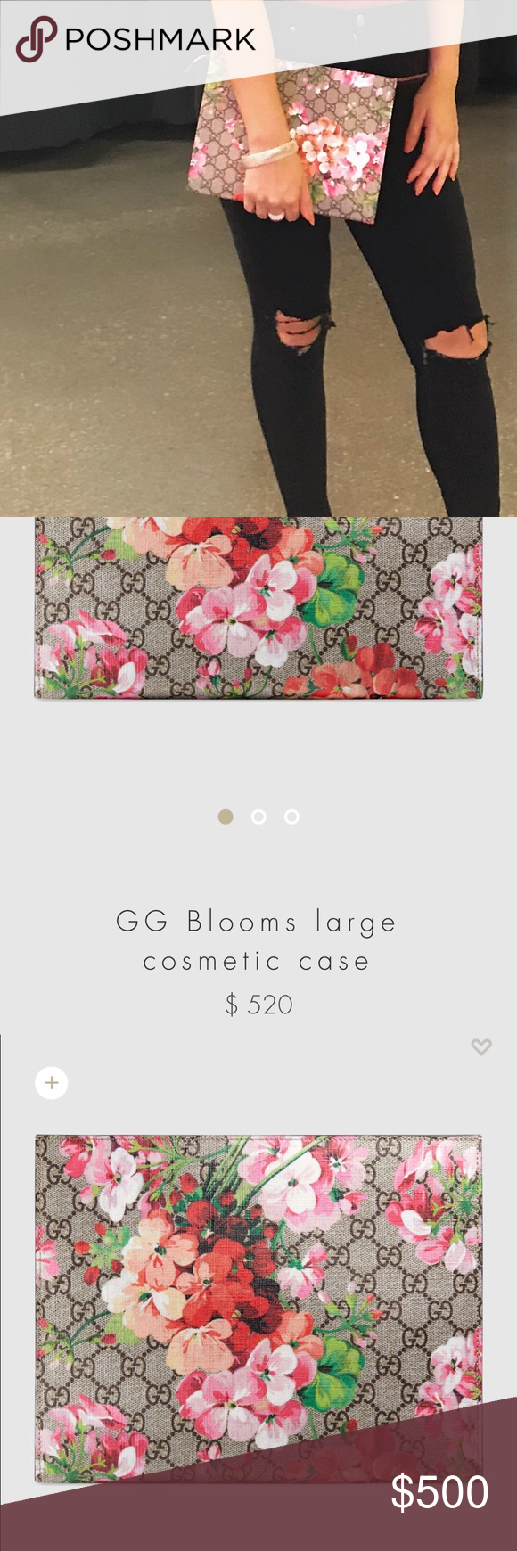 18f3fbf1d81 GUCCI GUCCI GUCCI Brand new used once. With box bag. Gucci blooms cosmetic  bag 2017 I paid  562.0 Gucci Bags Cosmetic Bags   Cases