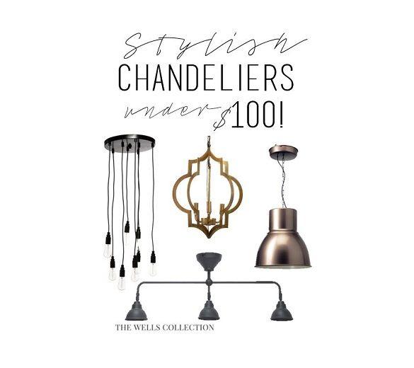 Stylish Chandeliers Under 100 Diy Chandelier Chandelier Diy