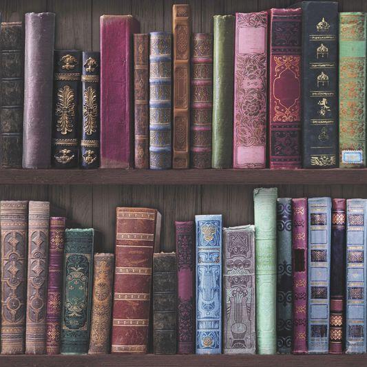 Book Shelf Wallpaper Large Bookcase Roll White