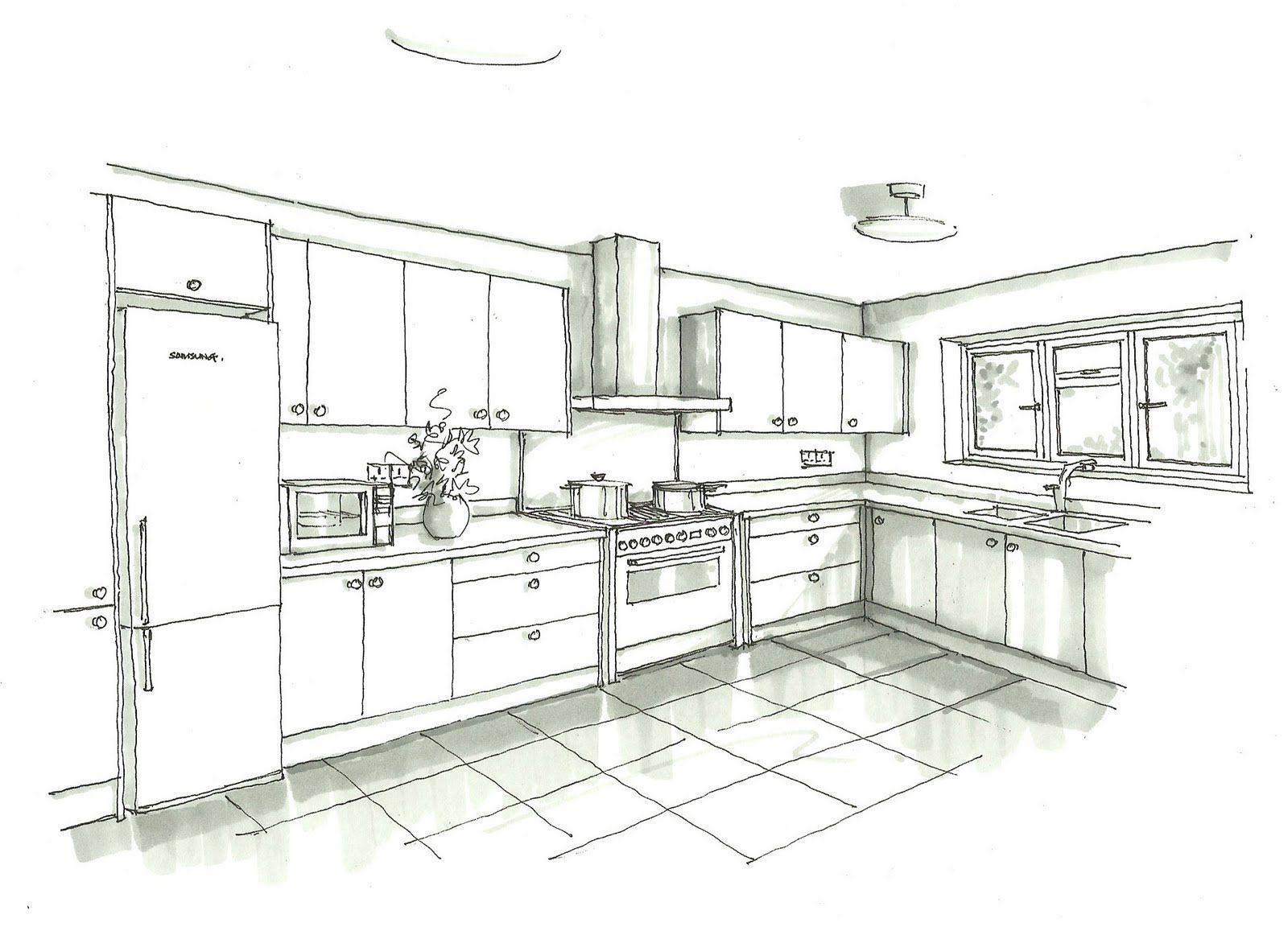 Images For Kitchen Sketch Design Medidas De Cozinha Decoracao Apartamento Pequeno Cozinha