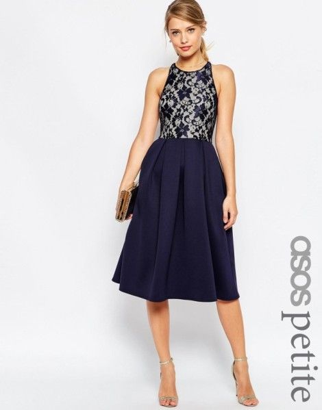 robe bleu marine mi longue mode asos lace dress lace. Black Bedroom Furniture Sets. Home Design Ideas