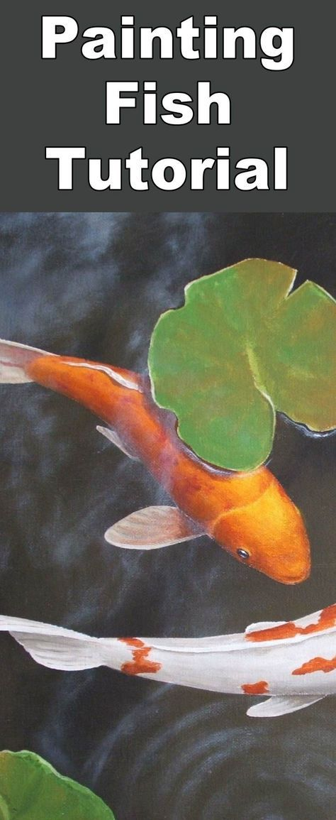 Learn how to paint a realistic Koi fish pond with this oil