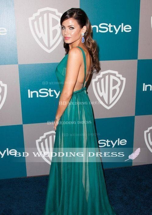 2015 New Jenna Dewan Dress V Neck Neckline Sleeveless Celebrity ...