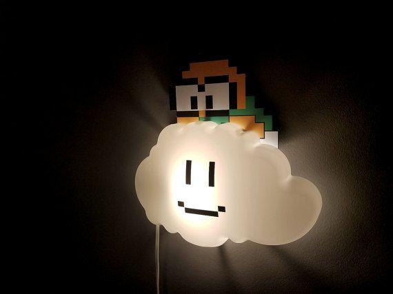 Super mario brothers veilleuse d cor de nurserie cadeau geek geek veilleuse lampe nuage de - Deco chambre mario ...