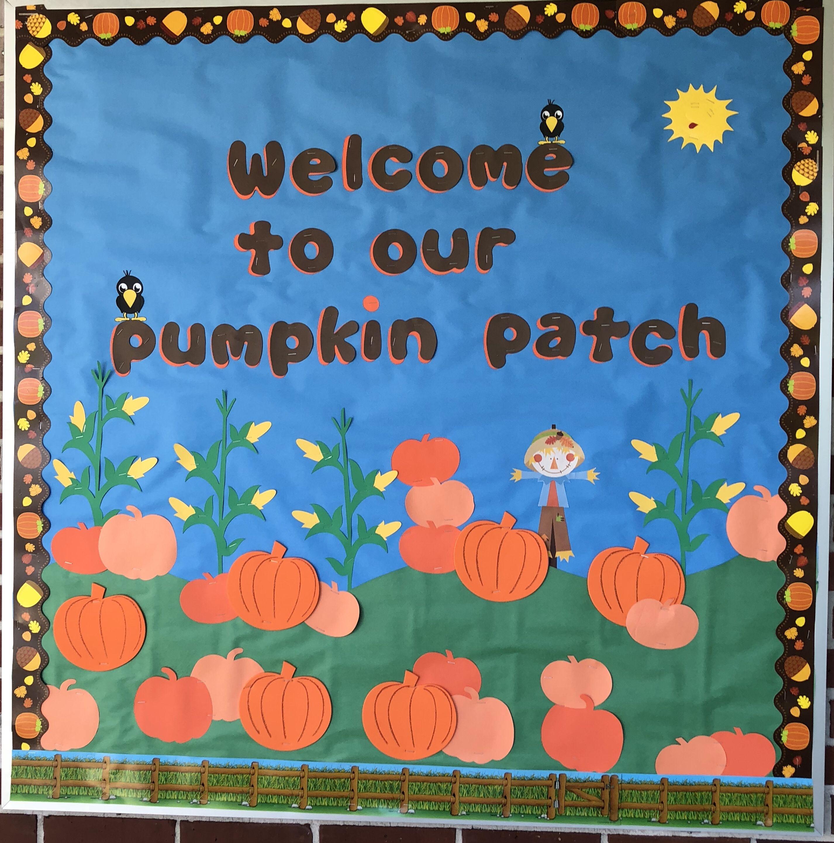 Fall bulletin board  #pumpkinpatchbulletinboard