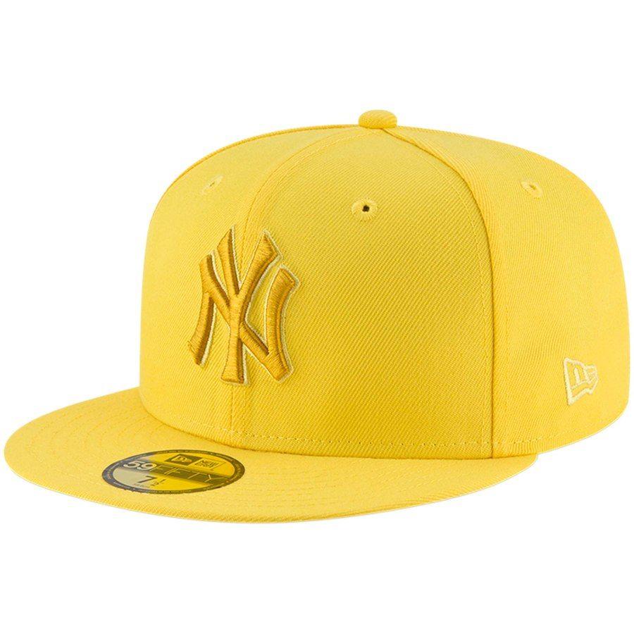 orange yankee fitted hat