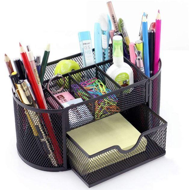 Pen Holder Pen Organizer Holder Caddy Office Pencil Mesh Desktop Storage Bo`US
