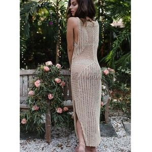 WINUP women sexy fashion crochet beach dress summer beach cover up #crochetbeachdress