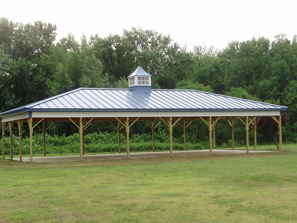 Dimensions 30 w x 60 l x 10 h pavilion id 086 hip for Hip roof barns