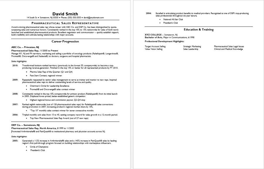 Pharmaceutical Sales Resume Sample #pharmaceutical #industry   - salesman resume examples