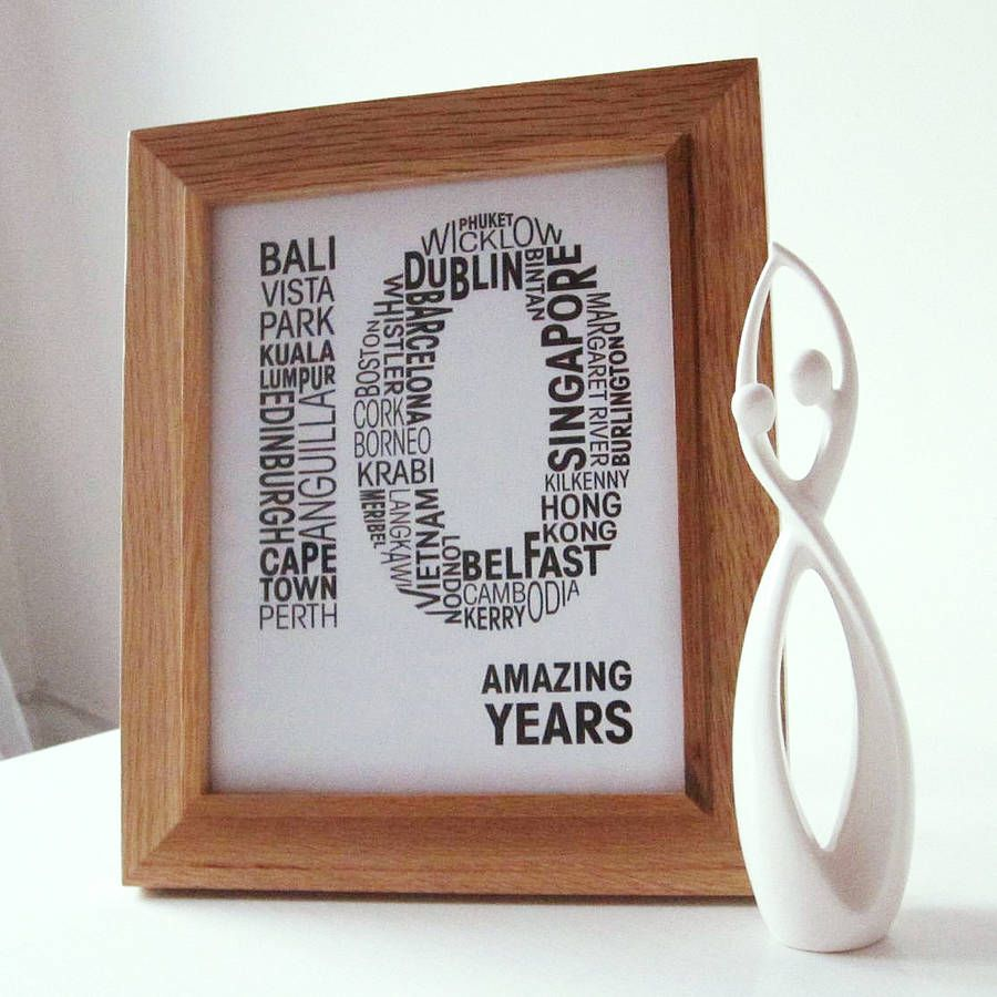 Personalised Anniversary Print 10th Wedding Anniversary Gift 10th Wedding Anniversary Wedding Anniversary Party