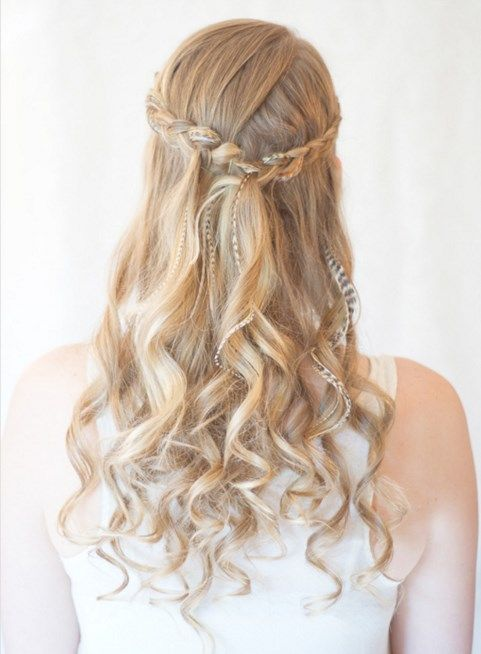 Prom Hairstyles With Braids For Long Curly Hair Long Women Hairstyles Penteados Cabelo Tutorial De Maquiagem