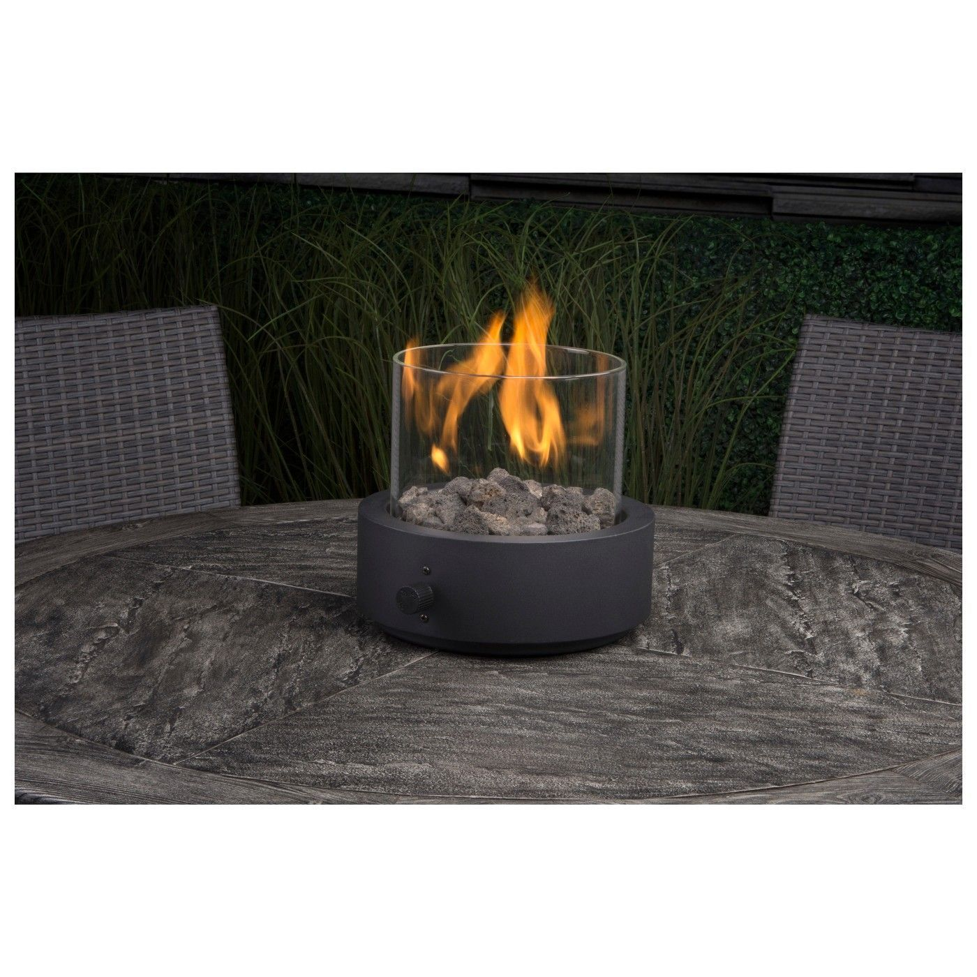 ambient remote control gas fireplace