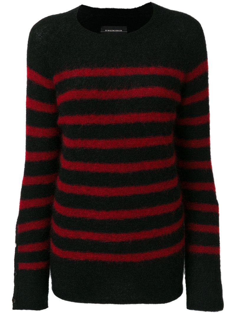 By Malene Birger Woman Striped Stretch-knit Sweater Black Size L By Malene Birger Cheap Sale Comfortable Cheap Sale Latest Shipping Discount Authentic Collections Cheap Online Vz3Nc7dN5