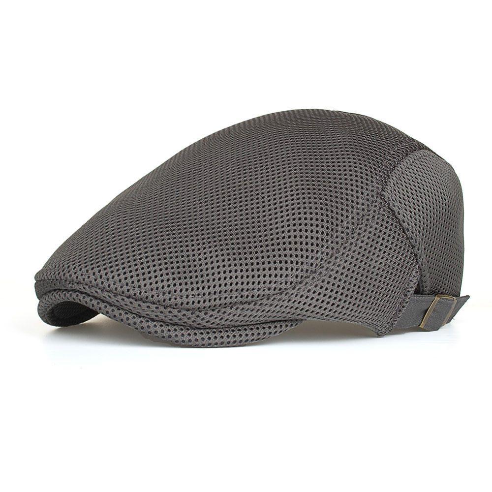 c21b57445a45d Men Summer Breathable Mesh Causal Beret Hat at Banggood