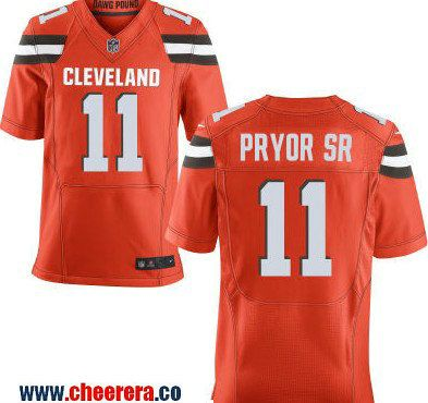 sports shoes b9938 162ea Men's Cleveland Browns #11 Terrelle Pryor Sr Orange ...