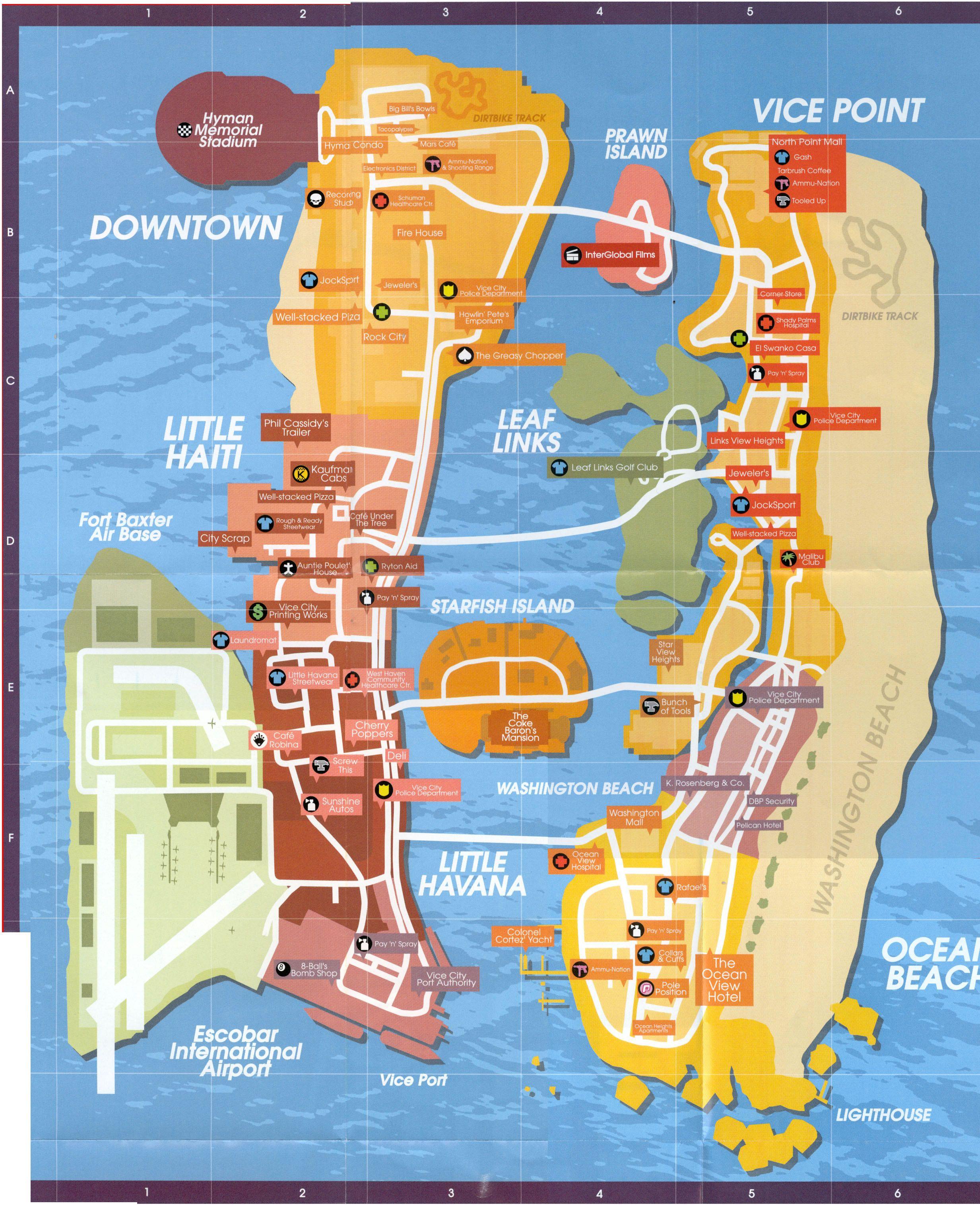Vice City Properties : properties, Properties, World, Atlas
