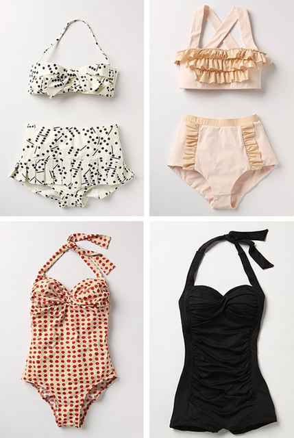 vintage-inspired bathing suits --- yes please.
